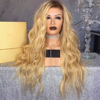 Blonde Ombre Long Body Wave Hair Cheap Synthetic Lace Front ...