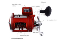 Yumoshi 12 الكرات عالية السرعة بكرة الصيد مع عمق الكهربائية عد المضاعف يسار / يمين التصيد عجلة الطبل المصبوب