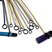 Metallbänder Clips Halskette Schnur Halsketten Band für myle mt phix smpo NRX relx Uwell Caliburn flach vape Stift e cig Mods