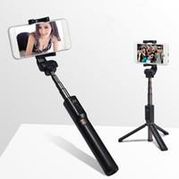 Bluetooth selfie support de trépied bâton téléphone mobile produit caméra bâton selfie étendu téléphone portable Accessoires de photographie
