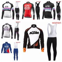 New Arrival. FDJ KTM LIV team Cycling long Sleeves jersey bib shorts sets  women Ropa Ciclismo MTB Bicycle Racing Bike ... 1153af664