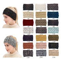 21 ألوان محبوك تويست عقال النساء الشتاء الرياضة الأذن أدفأ رئيس التفاف هيرباند أزياء الشعر اكسسوارات