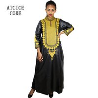 9dd7fe64f5 African bazin embroidery dresses long dress without scarf soft material