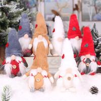 8 estilos Natal gnomo pelúcia brinquedo floresta de pelúcia pessoas sem rosto boneca nórdica decoração ornamento brinquedo presente de festa de natal t9i00172
