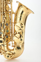 MARGEWATE ألتو إب اللحن الساكسفون عالية الجودة براس E وصول شقة الذهب الطلاء الساكسفون آلات موسيقية جديدة شحن مجاني