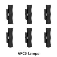 6pcs LED lumières murales 12V 24V 3W LED double tête lumineux lampes de tache extérieure Jardin de haut en bas de 15 degrés