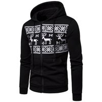 2018 New Style Fashion Hot Herren Herbst Print Winter Hoodie mit Hut Full Zipper Outwear Jumper Tasche