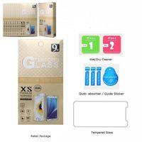 Samsung A10의 경우 J7 Prime iPhone 11 Pro Max XR 강화 유리 메트로 휴대폰 LG Stylo 4 Google Pixel 3XL 화면 보호기 상자