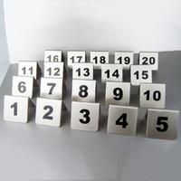 Numero all'ingrosso 1-100 Numeri di tabella di acciaio inossidabile Carte Numero di metallo Segnaletica Tabella di segno Carta Ristorante Hotel Bar Strumenti DBC DH0595