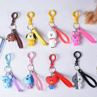 2019 Male group KPOP BTS Keychain BT21 Bangtan Boys Key Chai...