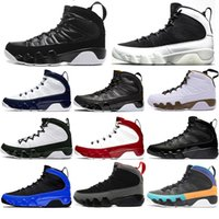 Nike AIR Jordan 9 Herren-Basketball-Schuh-9s Jumpman Traum Es Do It Gym Red Bred Koksgraue 9 UNC Countdown Pack-Statue Trainer Designer-Turnschuhe Kühle