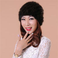 Women cap fashion accessories new Weave fur hats quality fas...