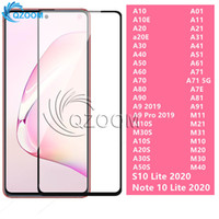 9d Full Glue Screen Protective for iPhone 11 PRO MAX XS Max XR XS Tempered Glass for Samsung A20 A50 A10E A31 A71 S10 Note 10 lite 2020