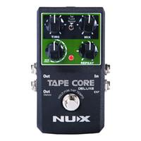 Pedal de efecto de eco NUX Tape Core Deluxe, 7 modelos Delay Effects Pedal de efecto de guitarra True Bypass para bajo de guitarra
