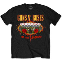 Oficiales con Licencia Guns N Roses Welcome to the Jungle camiseta Rock Metal