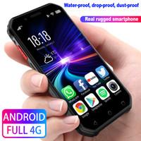 "3.0"" Rugged Smartphone 4G LTE 3 GB + 32 GB Quad-Core entriegelte Android-Handy NFC Wifi GPS Fingerabdruck PTT FM BT SOS Face ID Wasserdichte Handy"