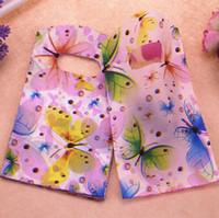 Venda quente Novo Atacado 500 pçs / lote 9 * 15 cm Borboleta Colorida Sacos De Embalagem de Presente Com Alças Pequenos Sacos de Presente