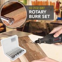 Premium-Wolframstahl-Hartmetall-Frässtift-Satz-Schaft passt für die Schleifbohrmaschine für Holzbearbeitung, Bohren, Metallschnitzen, Gravieren, Polieren