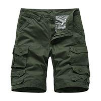 Мужские военные шорты-карго мульти-карманы повседневные короткие брюки плюс размер хлопковые шорты бренд одежды 2019 бесплатная доставка