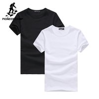 Pioneer Camp 2-пакет поощрения Tshirt мужчин бренда-одежда короткого рукав твердой тенниска мужчина случайно тенниска мода мужская CX200617