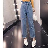 Kadın kot düz trendy geniş bacak mavi rahat kalite artı boyutu kot pantolon moda streetwear vintage yüksek bel pantolon