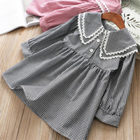 0- 6 years High quality girl dress 2019 spring new Preppy sty...