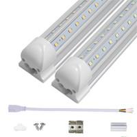 V- شكل 2ft 3ft برودة الباب أدى أنابيب T8 المتكاملة LED أنابيب 18 واط 28 واط AC85-265V غطاء شفافة جوانب مزدوجة الأضواء LED