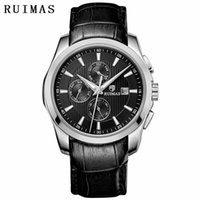 Reloj Hombre 2018 Men Business Automatic Mechanical Watch Classic  Wrist Watches Genuine Leather Strap RUIMAS Male Clock