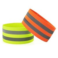 1 Piece Elastic Wristbands Reflection Band 5CM Wide Night Running Warning Wrist Ankle Straps Safety Cycling Reflective Belt