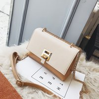 2020 new Korean Lady's cross-body bag stylish single shoulder bag simple PU small square bag