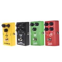 NUX Guitar Pedal 4 Effects Chorus Pedal de efectos de guitarra Low Noise / Overdrive / High Gain / Simulator Accesorios para guitarra