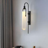 침대 옆 조명 유리 sconces 벽 마운트 램프 E27 거실 침실 광택을위한 현대 빈티지 클래식 벽 빛