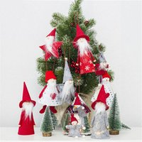 Christmas Cloth Doll Pendant Mini Wooden Christmas Tree Cute...