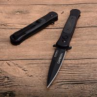 2018 acier au carbone froid pliant automatique meilleur couteau 8Cr13mov lame fibre de carbone + poignée en acier tactique couteau couteaux de poche