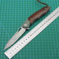 Şam Çelik Dövme 108 Katmanlı VG2 Blade Açık Partikül Sarı Sandal Ağacı Kolu ile Açık Bıçak