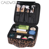 CALDWELL Дорожная косметичка большой емкости Портативный органайзер с молнией с леопардовым принтом Подарок для женщин