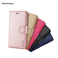 Hanman Mill Wallet PU 플립 가죽 케이스 커버 iPhone12 11Pro XS Max XR Samsung S10 S10Plus Huawei P20 P30 소매 패키지
