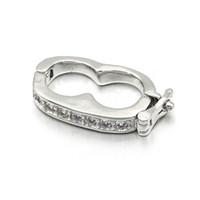 10mm * 19mm 2019 nouveaux crochets fermoirs en cuivre micro-incrusté de zircon accessoires de bijoux pour le collier de bricolage bracelets