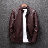 Homens Faux Ymwmhu Mens Pu Jackets Outwear Couro Biker Casaco Men 2021 Jaqueta De Motocicleta Cool Masculino Inverno Outono Motocicleta 4xl