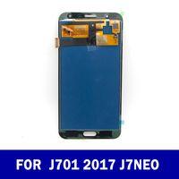 Orijinal LCD'ler Yedek Tam Sayısallaştırıcı için Samsung Galaxy J7 neo J701 J701F J701M J701MT LCD Ekran Dokunmatik Ekran Montaj