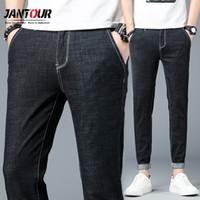 Jantour Brand Men's Slim Jeans 2019 Summer New Thin Stretch Business Casual Trousers men Fashion Denim Pants Male size 28-38