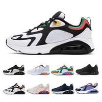 Air max 200 Novedad 2019 Zapatillas de running para hombre, mujer, muiltycolor, blanco, negro, 200 zapatillas deportivas Breathe para hombre, talla 36-46