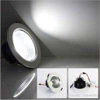 Dimmable LED d'éclairage encastrés Cob conduit vers le bas lumières 5W / 7W / 9W / 12W éclairage intérieur chaud / froid lumière plafond blanc AC85-265V