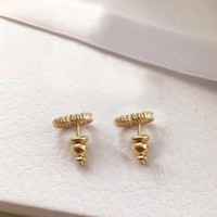 Mit BOX Fashion Marke haben Briefmarken Perle Designer Ohrringe für Dame Frauen Partei Hochzeit Liebhaber Geschenk Engagement Luxuxschmucksachen für die Braut HB20