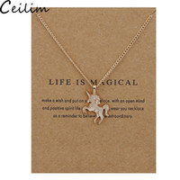 Catena New Golden Silver Horse lega collana pendente Chocker ciondolo con Gift Card monili all'ingrosso per le donne la vita è magica