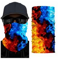 Al aire libre sin fisuras bufanda mágica de la mascarilla máscaras Ciclismo Montar multi-función de calentamiento tubulares Neckerchie unisex facial LJJP80 Máscara