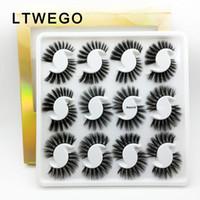 LTWEGO 12 пар 3d норковые ресницы мягкие пушистые накладные ресницы натуральные длинные искусственные ресницы ручной работы наращивание ресниц книга ресниц макияж