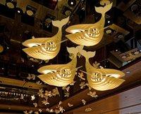 Neue Whale Kronleuchter Beleuchtung Holzkunst Fischförmige Esszimmer Wohnzimmer Pendelleuchten Schlafzimmer Pendelleuchten
