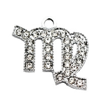hot sale 20pcs lot virgo With drill alloy Lobster Clasp Hang...