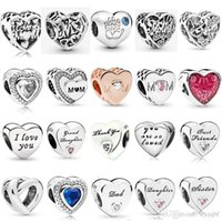 925 Sterling Silver Multi Style Mother's Day Charms Daughter's Love Beads Fit Pandora Original Charm Bracelets Jewelry Gift